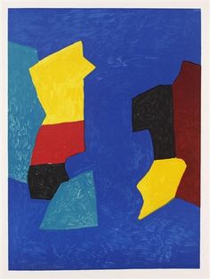 Composition bleue, rouge et jaune by Serge Poliakoff