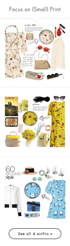 """""""Focus on (Small) Print"""" by taci42 ❤ liked on Polyvore featuring Fendi, Margo Morrison New York, Casa de Vera, Mar y Sol, Henri Bendel, Acne Studios, Grace, Yves Saint Laurent, Thirstystone and Maybelline"""