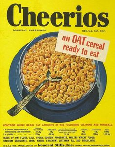 The one and only Cheerios (formerly Cherrioats). – pinned from longtime client General Mills