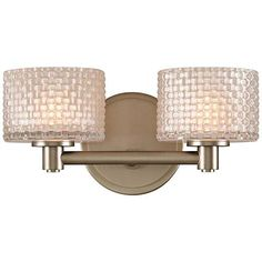 "Willow 6"" High Satin Nickel 2-LED Wall Sconce - #23M31 