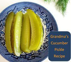 Grandma's Dill Pickle Cucumber recipe! Soo good :)