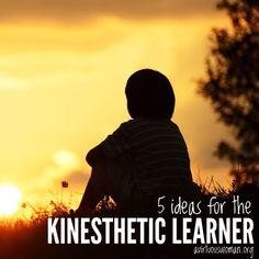 5 ideas for a kinesthetic learner
