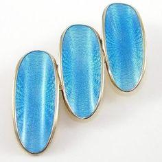 Vintage-David-Andersen-Sterling-Silver-Modernist-Blue-Enamel-Pin-Brooch