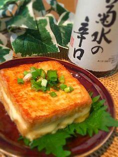 絹揚げのとろ~りチーズのはさみ焼き♡ Japanese Dishes, Japanese Food, Home Recipes, Asian Recipes, Easy Cooking, Cooking Recipes, Good Food, Yummy Food, Cravings