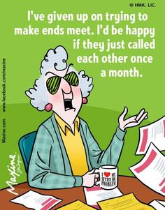 Maxine on making ends meet
