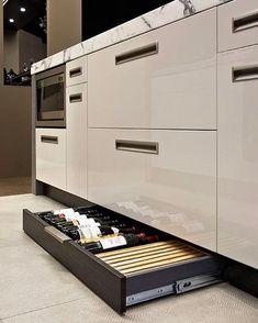 Wine storage in kitchen