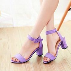 Women's Chunky Heel Open Toe Sandals Shoes(More Colors)  – AUD $ 23.60