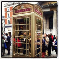 "@nickcburt's photo: ""Loving the #btartbox art up in London, old skool telephone boxes everywhere!! @emsylouc having a field day"""
