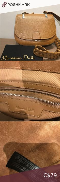 👜NEW Massimo Dutti leather bag👜 Cow leather, made in India, interior thick cotton. Great quality, never worn. Some minor scratches on silvertone hardware, bought like that. Massimo Dutti Bags