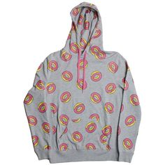 Girls All Over Donut Grey Hoodie ($80) ❤ liked on Polyvore featuring tops, sweaters, hoodies and jackets