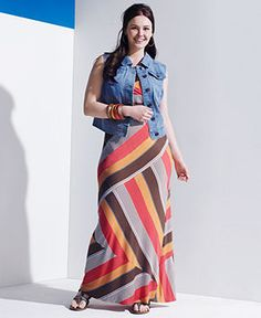 American Rag Plus Size Dress, Sleeveless Striped Maxi - Plus Size Maxi Dresses - Plus Sizes - Macy's