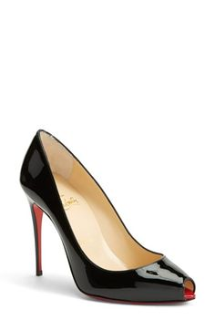 8a0e0c865 Christian Louboutin  Tibur  Open Toe Pump available at  Nordstrom Vintage  Boutique