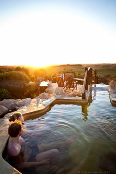 Peninsula Hot Springs, one of the most popular means of relaxation on the Mornington Peninsula that the entire family can enjoy. Winter In Australia, Australia Travel, Melbourne Victoria, Victoria Australia, Melbourne Australia, Melbourne Trip, Vic Australia, Places To Travel, Places To See