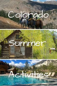 Colorado Summer Activities Camping, Hiking, 14'ers, Ghost Towns, Hot Springs, Horseback Riding Colorado National Parks, Road Trip To Colorado, Road Trip Usa, Snowshoe, Usa Travel Guide, Travel Usa, Canada Travel, Travel Tips, Rafting