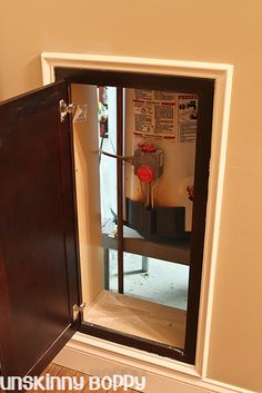 A great idea for accessing HVAC and water units in the basement. Should have seen this years ago!!!!