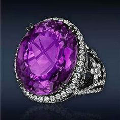 Amethyst and diamond ring✨