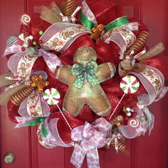 Gingerbread Christmas wreath