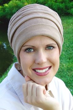 Headcoverings for cancer chemotherapy patients..looks comfy and practical for around the house...no tying!