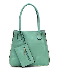 Look what I found on #zulily! Mint Candice Tote & Wristlet #zulilyfinds