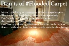 Don'ts of Flooded Carpet