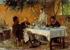 KRØYER, Peder Severin - Breakfast in Sora 1880) 33 x 24 cm (oil on panel) (Nationalgalleriet, Oslo)