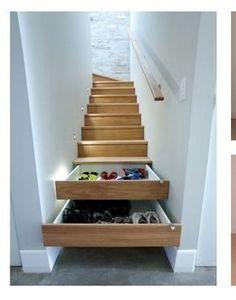 I cassetti nelle scale ...ideato da me