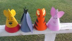 8 Winnie the Pooh Birthday Party Hats Pooh & by MagicalBoutique, $25.00