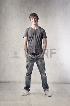 Smiling handsome young man Stock Photo