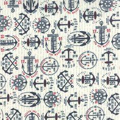 Patchwork anyag - Moda - The Boat House 5551-13