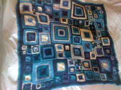 Color inspiration. Ravelry: Project Gallery for Babette Blanket pattern by Kathy Merrick