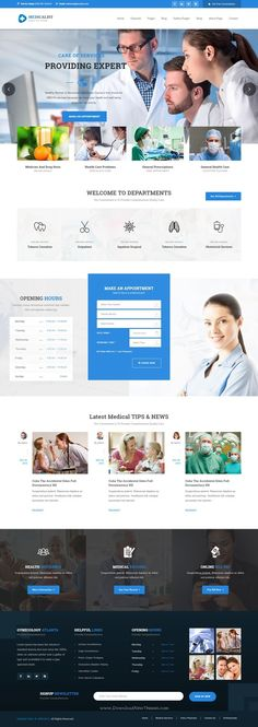 Medicalist - A Responsive HTML Bootstrap Template for Medical, Doctors, Dentists, Clinics and Hospitals Website.  Provided by WebsitesYes.com