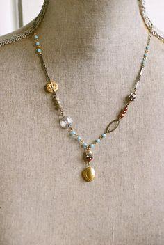 Josette. crystal pearl rhinestone bohemian by tiedupmemories