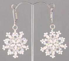 Superduo Beaded Snowflake Jewelry Tutorials - The Beading Gem's Journal