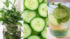 Add zing to chilled water with cucumbers, seltzer, and fresh mint! #summer #drinks #recipes | everydayhealth.com