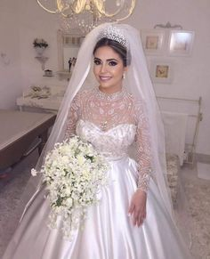 45 ideas wedding dresses princess bling veils for 2019 Princess Wedding Dresses, Bridal Dresses, Wedding Gowns, Bridal Looks, Bridal Style, Beautiful Gowns, Beautiful Bride, Bride Gowns, Dream Dress