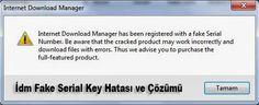 Arkadaşlar merhaba bugünlerde bazı arkadaşlarımız sürekli bu hatadan dolayı yorumlar bırakıyor. İnternet Download Manager Serial Hatası yani İdm Fake Serial Hatası Çözümü için bir program bulduk. Programın adı İnternet Download Manager Fake Serial yazılımıdır.