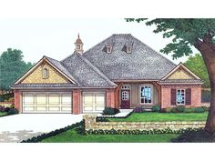 Vandiver Hill European Home Front of Home from houseplansandmore.com