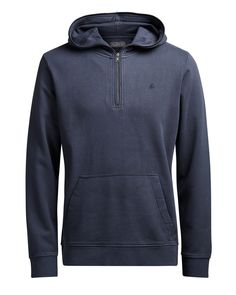 Discover Men s Jack   Jones Overhead Hoodies at Jean Scene. Coming in a  Navy Blazer colour this Campaign logo Hooded Sweatshirt is the ideal casual  hoodie. 1498ee673db7