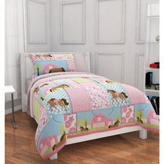 Gracie's bedding (Mainstays Kids Country Meadows Bed in a Bag Bedding Set)