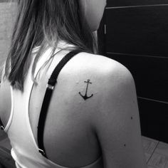 Anchor tattoo girl