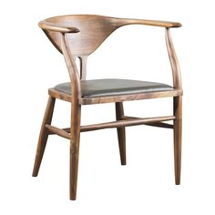 Peking B Chair - Olive Leather
