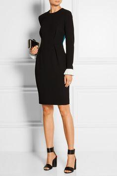 Roksanda | Izumi color-block wool-blend crepe dress | NET-A-PORTER.COM