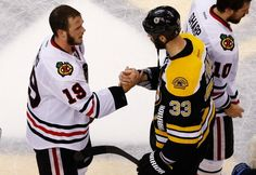 Jonathan Toews and Zdeno Chara