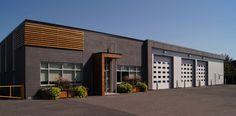 Caserne - Groupe Leclerc Architecture & Design Architecture Design, Leclerc, Garage Doors, Outdoor Decor, Home, Group, Architecture Layout, Ad Home, Homes