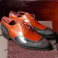 Handmade Color Block Lace-Up Men's Dress Shoes Suede Leather Shoes, Leather And Lace, Leather Men, Black Leather, Lace Up Shoes, Men's Shoes, Shoe Boots, Dress Shoes, Shoes Men