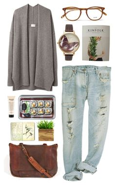 """""""Folk"""" by purite ❤ liked on Polyvore featuring Giada Forte, Garrett Leight, Pieces, philosophy and Moleskine"""