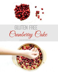gluten free cranberry cake!