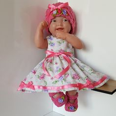 "Handmade Baby Dolls Clothes for 12""-14"" BERENGUER /CUPCAKE LA NEWBORN /REBORN p"