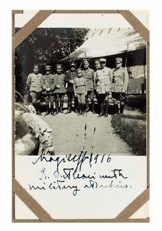 Alexsei at Mogileff - 1916 - with Russian , French and British officers - Photo from Ladbrooke Collection.