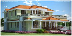#acube #Kerala #Model #Home Ground Floor – 1865 Sq.Ft.  Porch Sit out Drawing Dining Courtyard Family living Office room Bed room -2 Attached Dress & Bath room – 2 Kitchen Store Work Area   First Floor -1068 Sq.Ft.  Upper Living Bed room – 2 Common Bath room 1 Study area Balcony Total Area – 2933 Sq.Ft